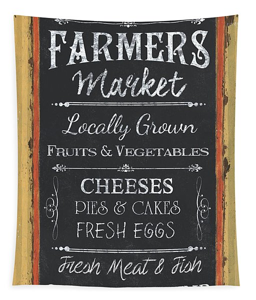Farmer's Market Signs Tapestry