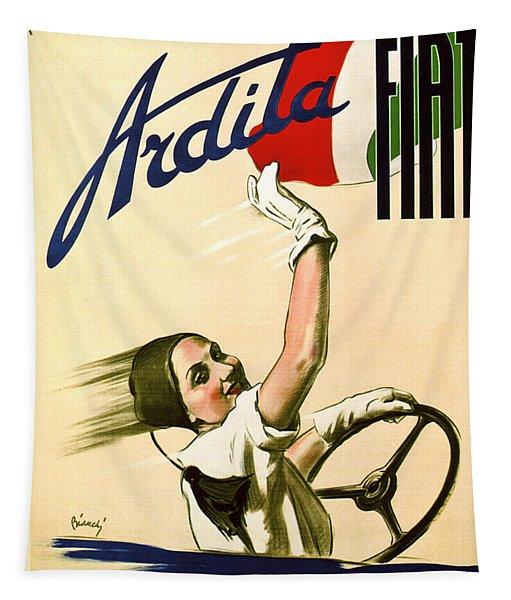 Fiat Ardita - Italian Car - Vintage Advertising Poster Tapestry