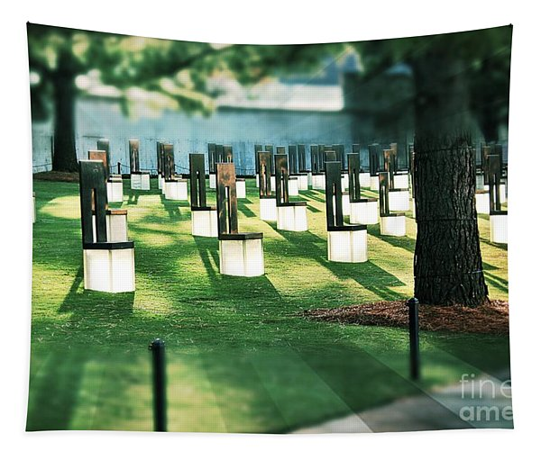 Field Of Empty Chairs Tapestry