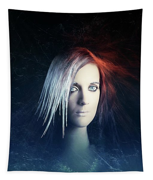 Fire And Ice Portrait Tapestry