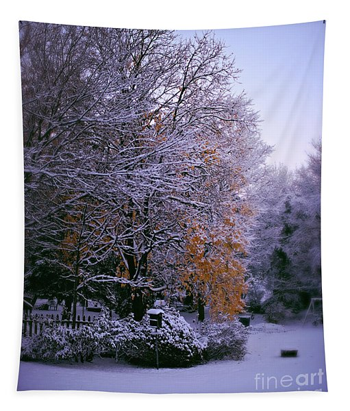 First Snow After Autumn Tapestry