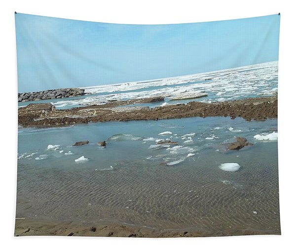 First Thaw Of Frozen Lake Erie Tapestry