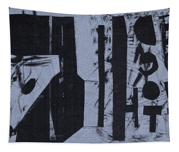 Fisher Covers Reverse White On Black Tapestry