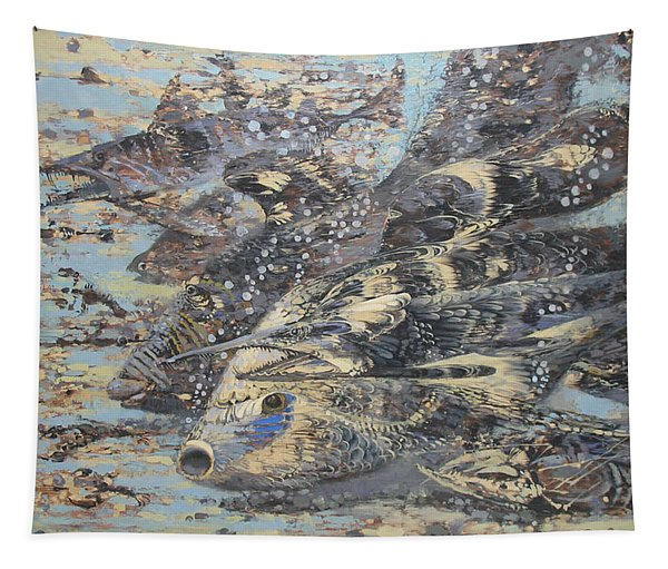 Fishes. Monotype Tapestry