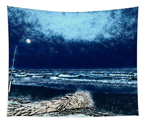 Fishing For The Moon Tapestry
