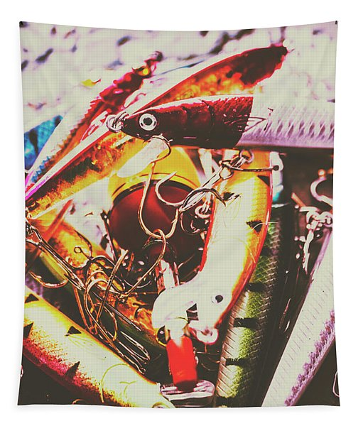 Fishing Lures Tapestry