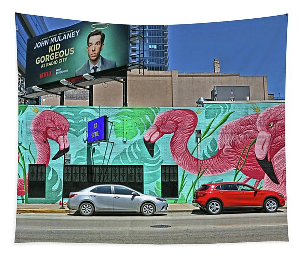 Flamingo Mural - Chicago Tapestry