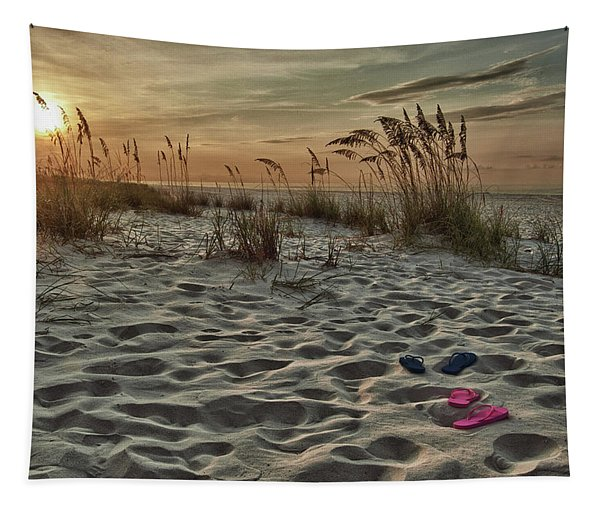 Flipflops On The Beach Tapestry