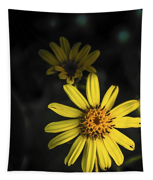 Flora In Yellow Tapestry