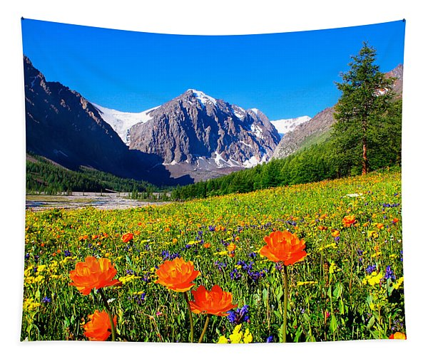Flowering Valley. Mountain Karatash Tapestry