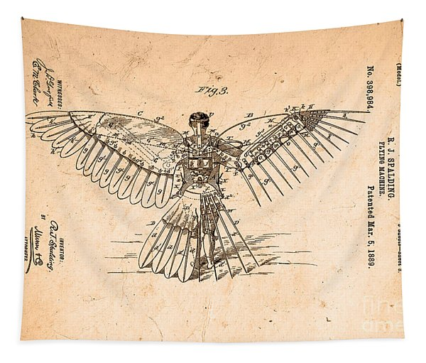 Flying Machine 1889 Tapestry