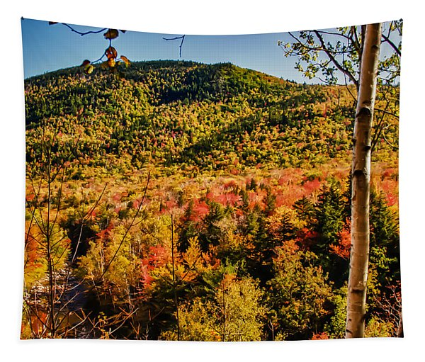 Foliage View From Crawford Notch Road Tapestry