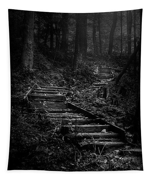 Forest Stairs Tapestry