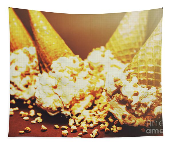 Four Artistic Ice-cream Cones Tapestry