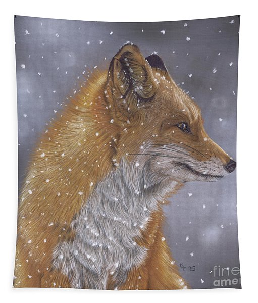 Fox In A Flurry Tapestry