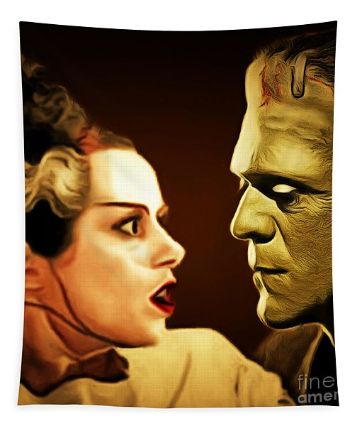 Frankenstein And The Bride I Have Love In Me The Likes Of Which You Can Scarcely Imagine 20170407 Sq Tapestry
