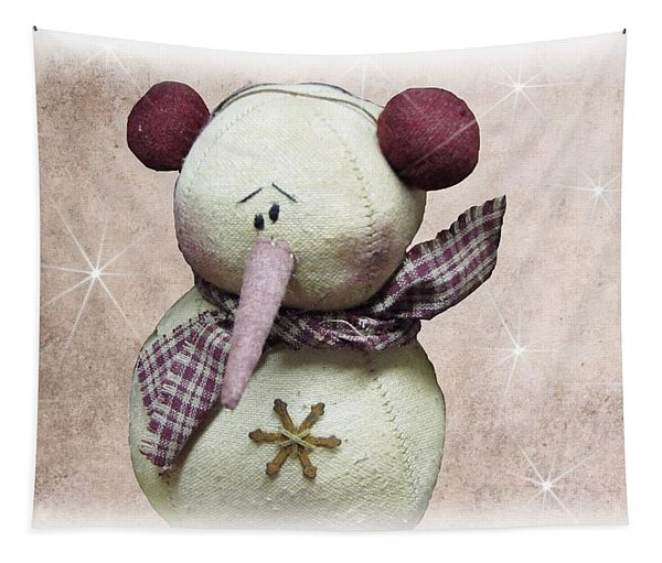 Fuzzy The Snowman Tapestry