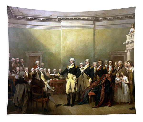 General Washington Resigning His Commission Tapestry