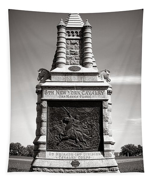 Gettysburg National Park 6th New York Cavalry Monument Tapestry