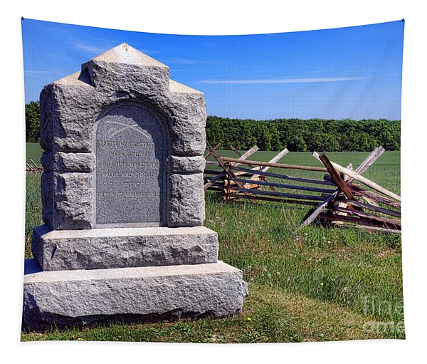Gettysburg National Park Third West Virginia Cavalry Memorial Tapestry