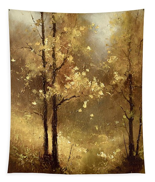 Golden Forest Tapestry