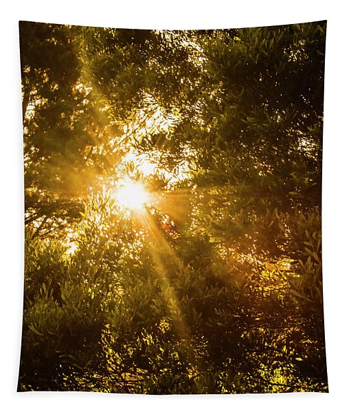 Golden Treetops Tapestry