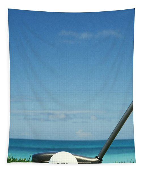 Golf Ball And Driver Tapestry