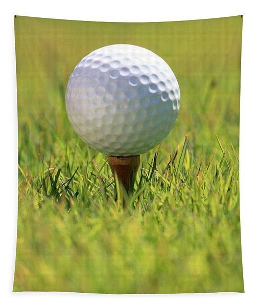 Golf Ball On Tee Tapestry