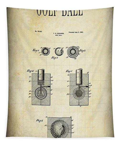 Golf Ball Patent 1902 Tapestry