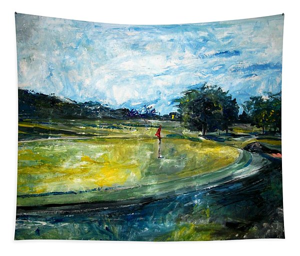 Golf Court Tapestry