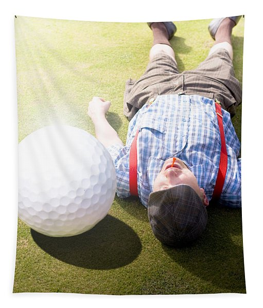 Golfer Didnt See That One Coming Tapestry