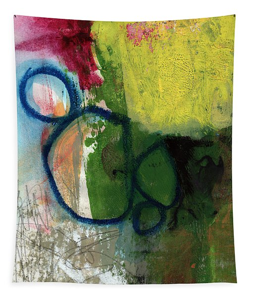 Good Day-abstract Painting By Linda Woods Tapestry