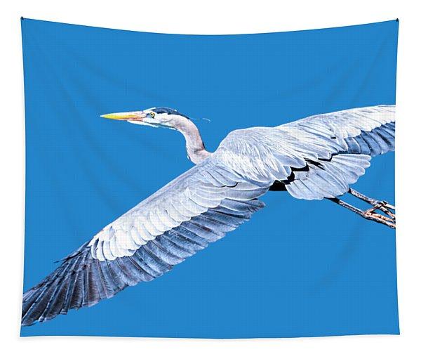 Great Blue Heron Flight Tapestry