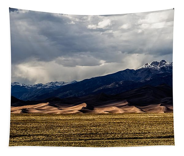 Great Sand Dunes Panorama Tapestry