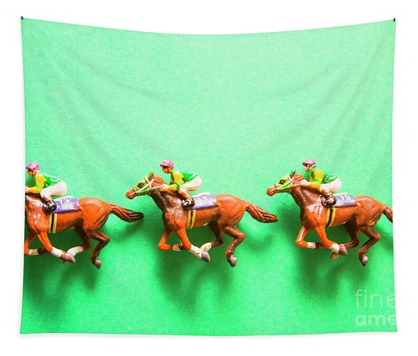 Green Paper Racecourse Tapestry