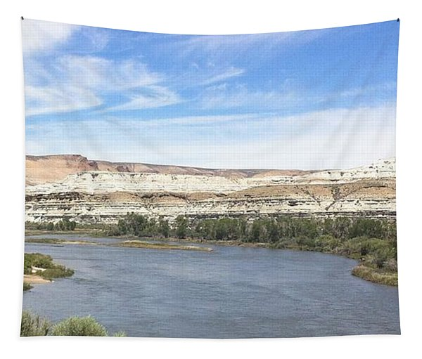 Tapestry featuring the photograph Green River Wyoming - 2  by Christy Pooschke