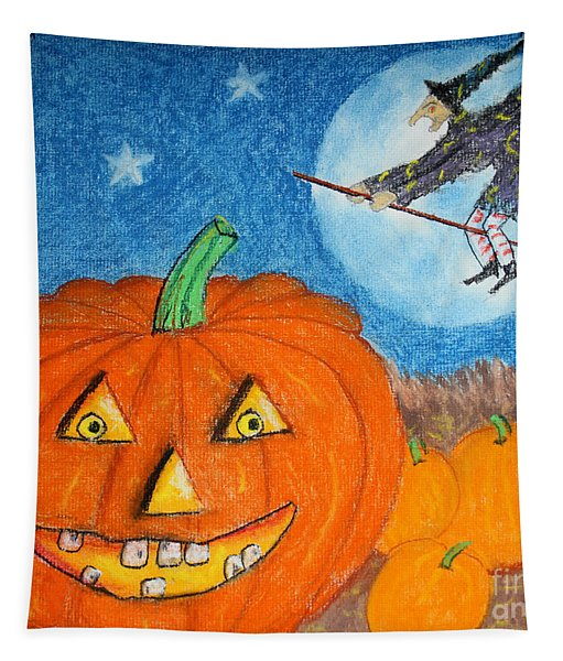 Happy Halloween Boo You Tapestry