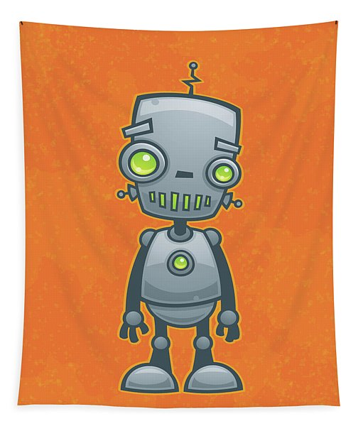 Happy Robot Tapestry