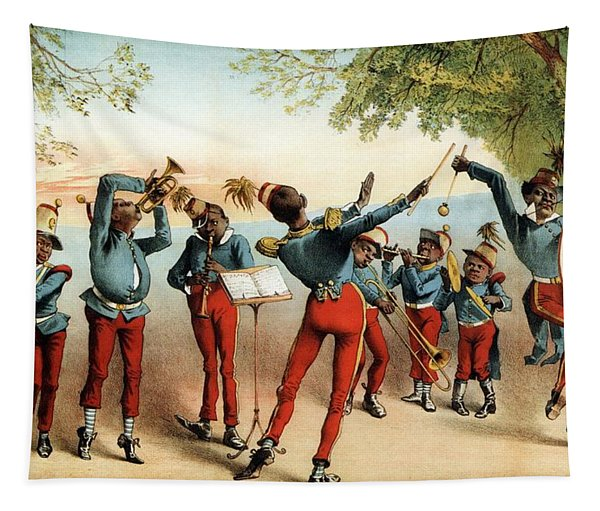Haverly's Genuine Negro Minstrels - Music Troupe - Vintage Advertising Poster Tapestry