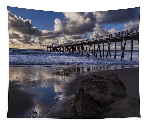Hermosa Beach Pier Tapestry