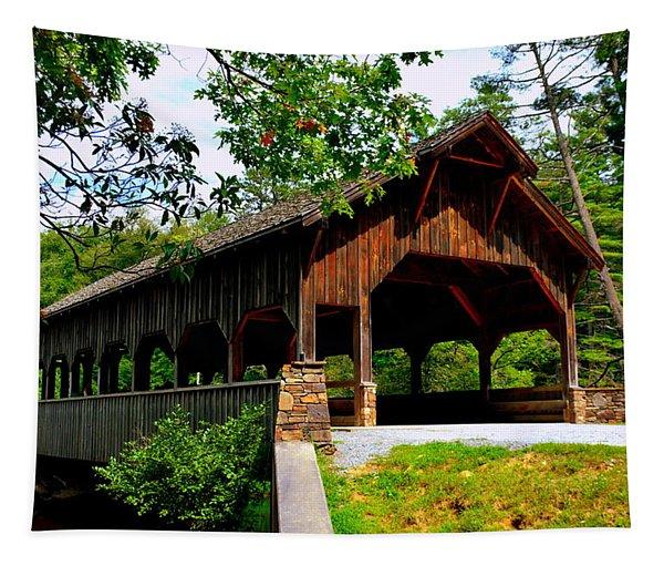 High Falls Covered Bridge Tapestry