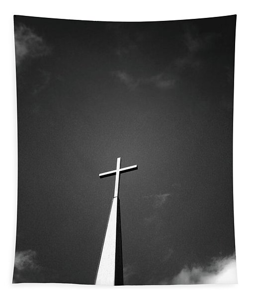 Higher To Heaven - Black And White Photography By Linda Woods Tapestry