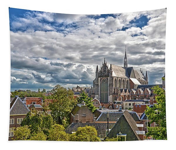 Highland Church Seen From Leiden Castle Tapestry