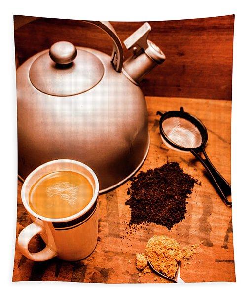 Hot Drink Details. Tea Print Tapestry