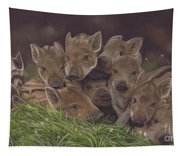 Huddle Of Humbugs Tapestry