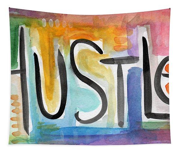 Hustle- Art By Linda Woods Tapestry