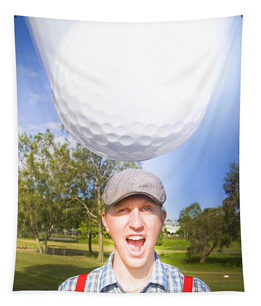 Impending Golf Injury Tapestry
