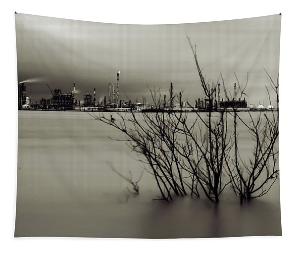 Industry On The Mississippi River, In Monochrome Tapestry