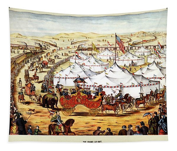 International Exposition - Vintage Circus Advertising Poster Tapestry