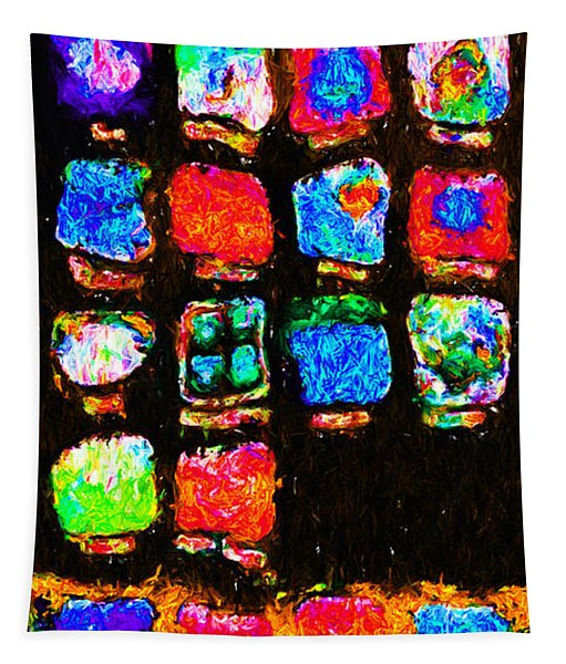 Iphone In Abstract Tapestry
